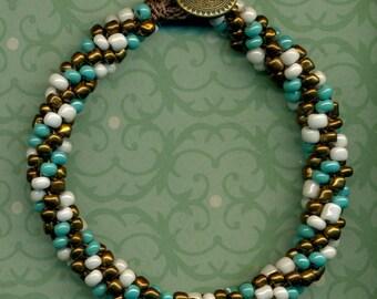 Southwestern Colors Braided Beaded Bracelet Large Size