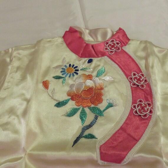 Child's Vintage Japanese Silk Pajamas