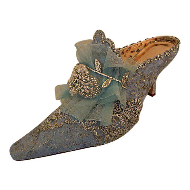 Marie Antoinette Wedding Shoes.. Something Blue Bridal