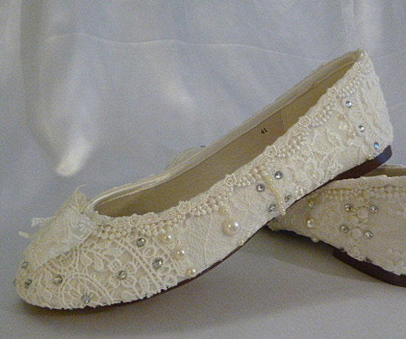 Wedding Ballet Flats . Lace Ballet Flats . Bridal Shoes .   Etsy