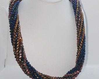 Spiral Herringbone Necklace