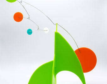 Abstract Modern Splash Rainbow Hanging Mobile Painted Steel New Gift