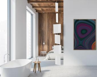 Elegant White Art Mobiles | Mid Century Modern Kinetic Hanging Mobile | Retro Home Interior Decoration | Retro Room DIvider | Gift Ideas