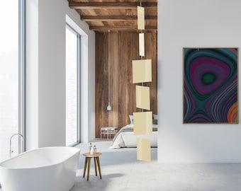 MODcast Cream Art Mobiles | Mid Century Modern Kinetic Hanging Mobile | Retro Home Interior Decoration | Retro Room Divider | Gift Ideas