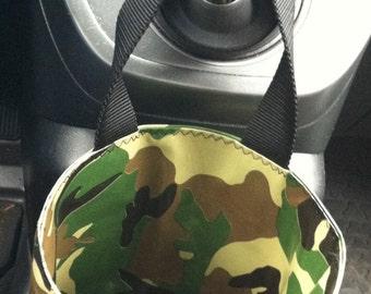 Beth's Unisex Oilcloth Camo Car Trash Bag Hanging Receptacle