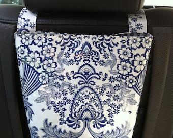 Beth's Paradise Oilcloth Headrest Car Trash Bag Receptacle