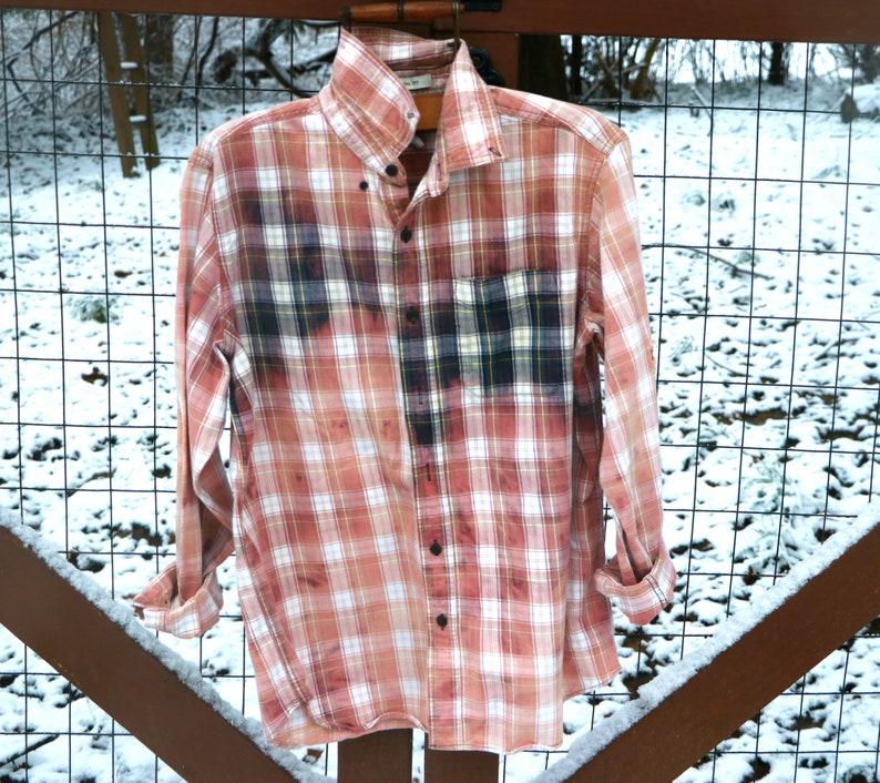 7ea66f51130 Boyfriend flannel shirt boho hippie shirt vintage dyed