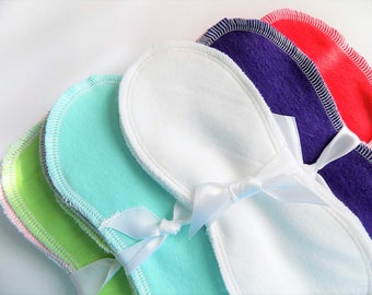 Special 5/10.00, Lay in cloth pads/pantyliners, two layer soft cotton flannel, next day shipping, cloth pads, cloth panty liners, contoured