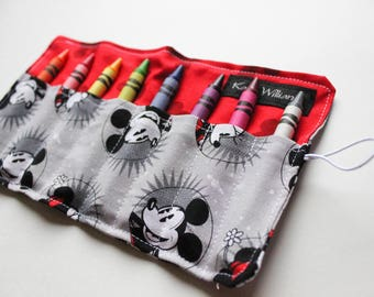 Mickey Mouse Stocking Stuffer-Crayon -Crayon Holder-Mickey Christmas Gift-Toy-Minnie Mickey Mouse Christmas Gift-Mickey Mouse Party