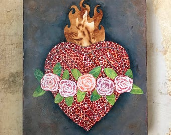 Immaculate Heart of Mary - Painted Paper Mosaic