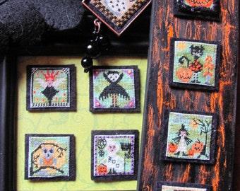 SALE Stitch An Inch Halloween Counted Cross Stitch Chart