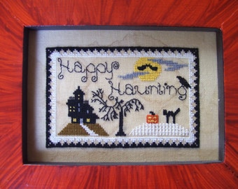Happy Haunting counted cross stitch pattern
