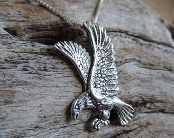 Eagle Pendant Sterling Silver with Chain