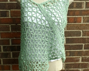 Plus Size Top, Crochet Summer Top, Asymmeterical Top, Festival Top, Cotton Top. Crochet Top, Crochet Blouse