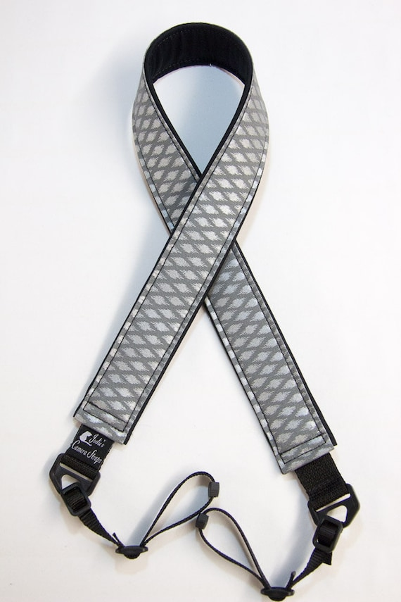 "Metallic Diamonds Camera Strap Custom Padded DSLR SLR 2"" wide or 1.5"" wide"