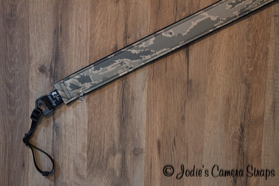 Air Force ABU Camera Strap 2 in or 1.5 in Wide Custom Padded Camouflage DSLR SLR