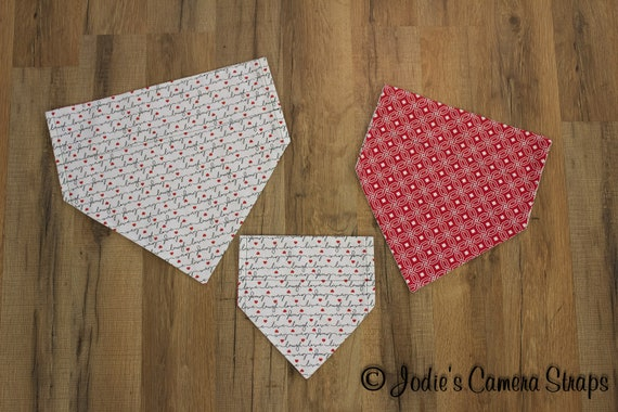 Dog Bandanas - Slip Over Collar - Reversible - Live Love Laugh - Small Medium Large