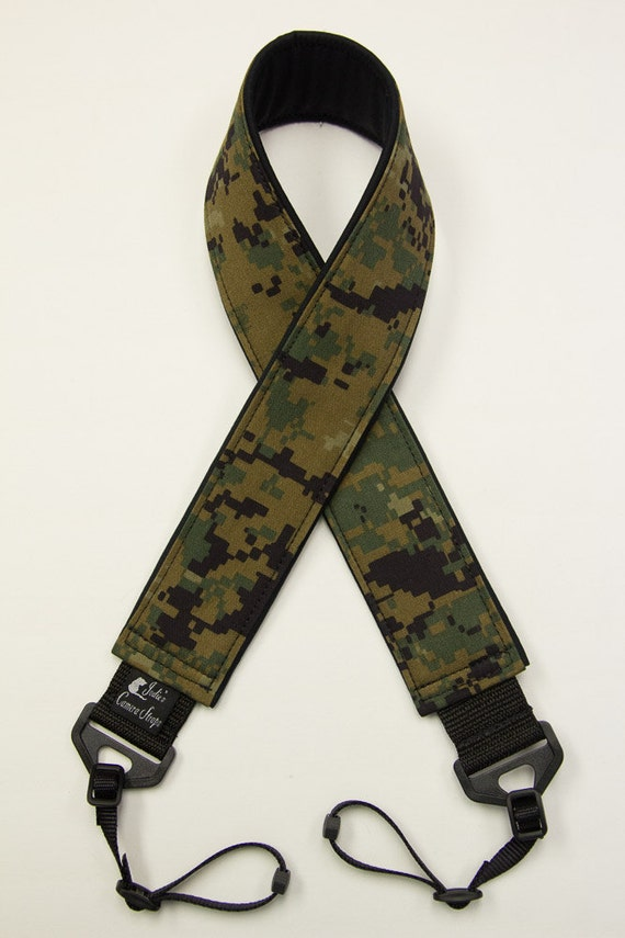 Marpat Camera Strap 2 in or 1.5 in Wide Custom Padded Marpat Military Camouflage DSLR SLR