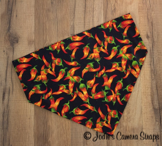 Dog Bandanas - Slip Over Collar - Reversible - Red Peppers