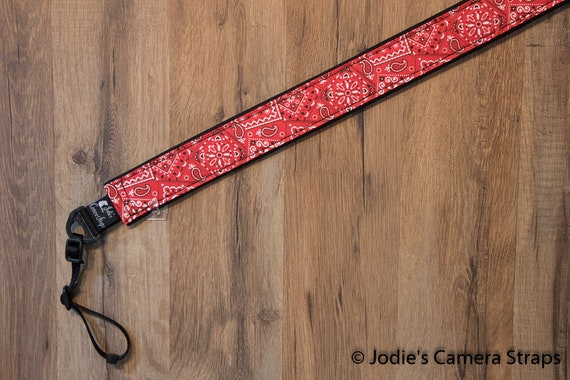 "Bandana Camera Strap Custom Padded DSLR SLR 2"" wide or 1.5"" wide"
