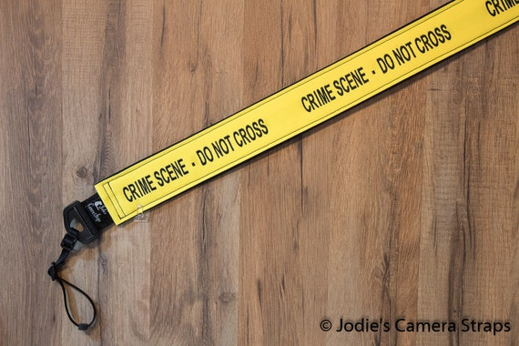 "Crime Scene Custom Padded Camera Strap 1.5"" or 2"" Wide Fits DSLR SLR"