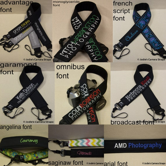 Camera Strap Personalization Add-On - Strap Sold Separately