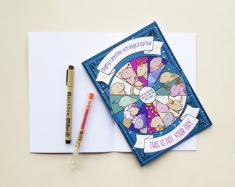 """Manatee notebook with funny horoscope - """"this is not your day"""" perpetual horoscope, works for every sign - A5 format"""