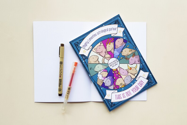 Manatee notebook with funny horoscope  this is not your image 0