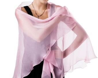 e71574c60d76b Light Pink Silk Chiffon Shawl