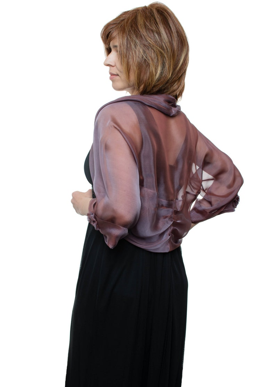 Amethyst Silk Bolero Jacket FIRST LADY Sizes XS 4X