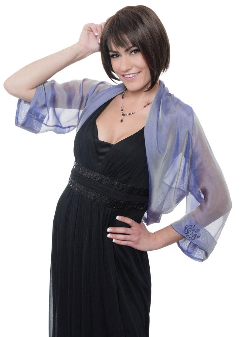 Lavender Silk Bolero Jacket FIRST LADY Sizes XS 4X