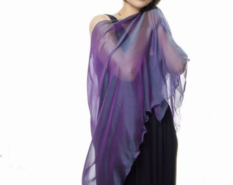 PROMO SALE: Purple Evergreen Silk Shawl