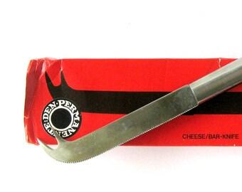 Stelton Cheese/Bar Knife / Mid Century Scandinavian Design / Stainless Steel Barware / Peter Holmblad / Cheese Knife / Mixologist / Denmark