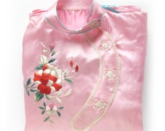 b3e3dd2c02 Vintage 50s Pink Asian Pajama Set