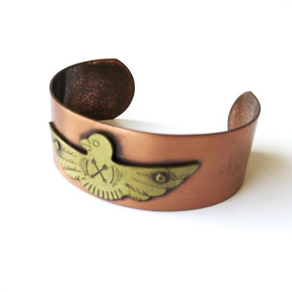 Southwest style copper cuff bracelet