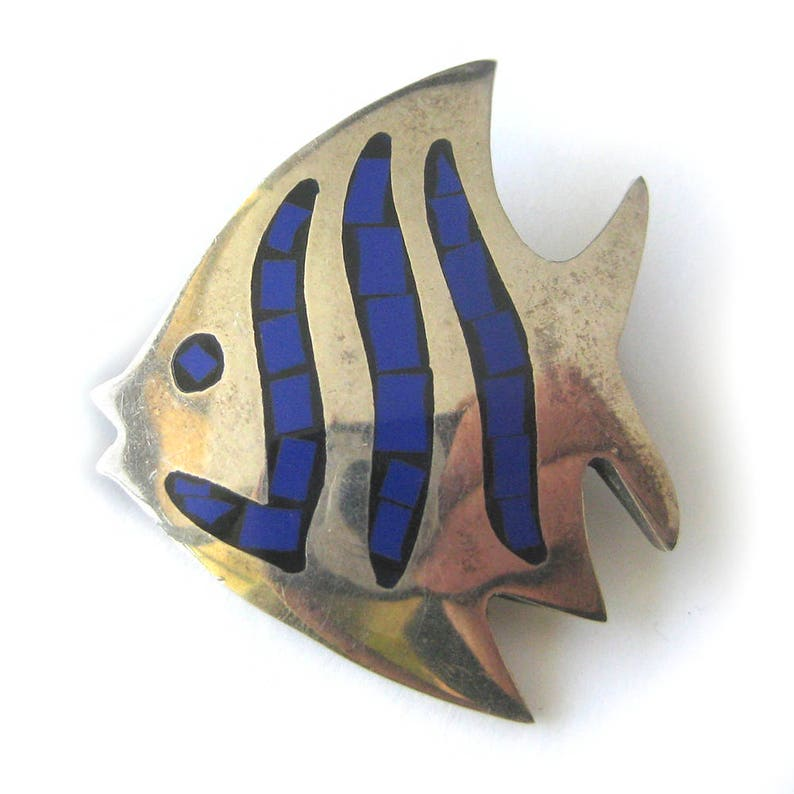 Fine Pins & Brooches Jewelry & Watches Angelfish Pin Sterling Silver A Great Variety Of Goods