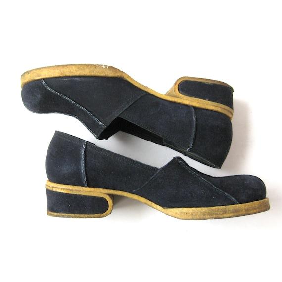 1960s Mod Gum Sole Suede Shoes, Rubber Crepe Soles