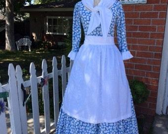 4 pc colonial womens dress milkmaid costume