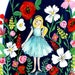 Essie-B reviewed Among The Wildflowers Gouache Illustration PRINT