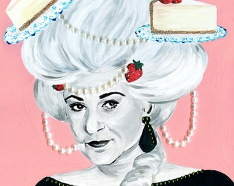 Limited Edition Bea Antoinette  Print of Original Acrylic Painting