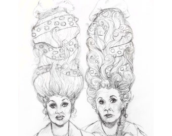 PREORDER Original Lucy and Ethel Antoinette Painting