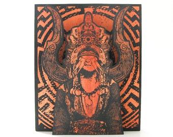 Screenprinted Shrine Orange