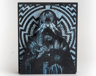 Screenprinted Shrine Blue