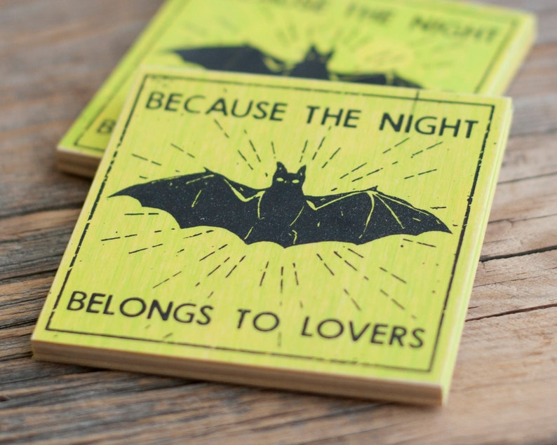 Because The Night Screenprinted Magnet 3