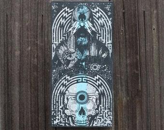 Large Screenprinted Shrine: The Wizard