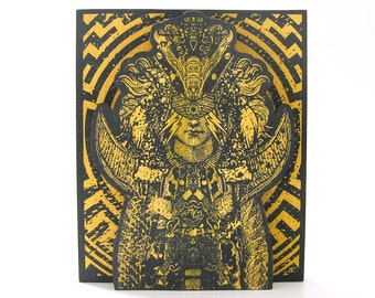 Screenprinted Shrine Yellow