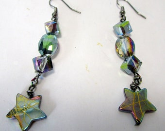 Peace. sparkling, abalone shells,  stars, contemporary,  kinetic, sculptural, light and fun