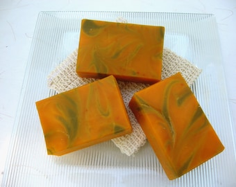 Patchouli Orange Organic Handmade Soap, Vegan Cold Process Soap