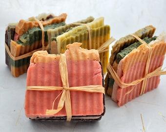 Soap Bundles, Stacks of Soap, Hot Process Soap, Olive Oil Soap