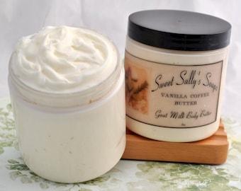 Vanilla Coffee Buttter, Goat Milk Body Butter 8oz